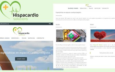 Diseñamos y desarrollamos el nuevo sitio web de la empresa Hispacardio Solutions